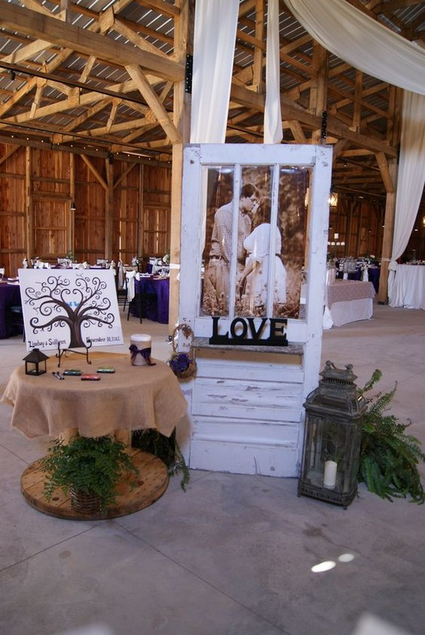 vintage rustic wedding decoration ideas with old door
