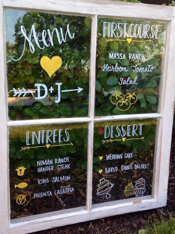 20 Diy Wedding Decoration Ideas With Vintage Windows Emmalovesweddings