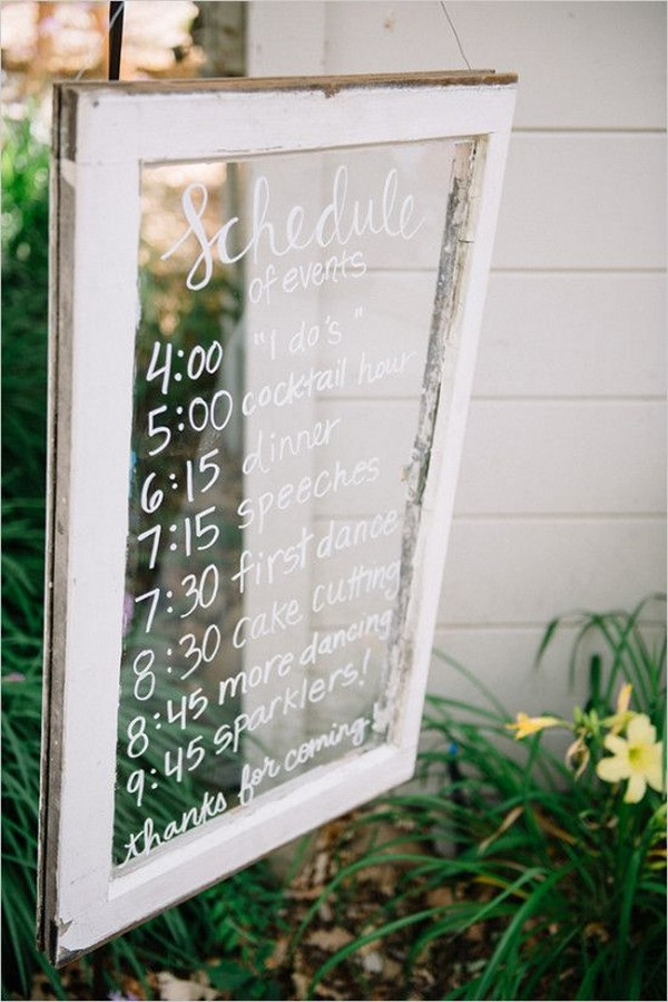 vintage window wedding sign ideas