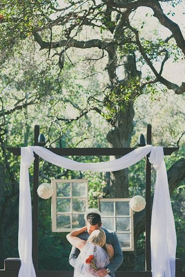 wedding backdrop ideas with vintage window