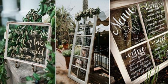 wedding decoration ideas with vintage window