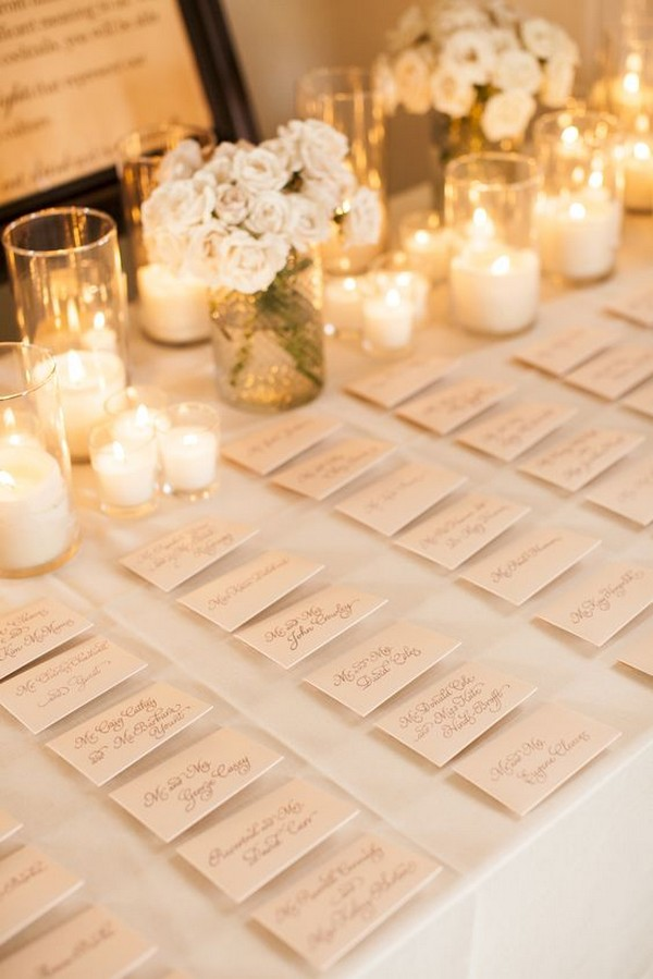 wedding table decorations for place cards