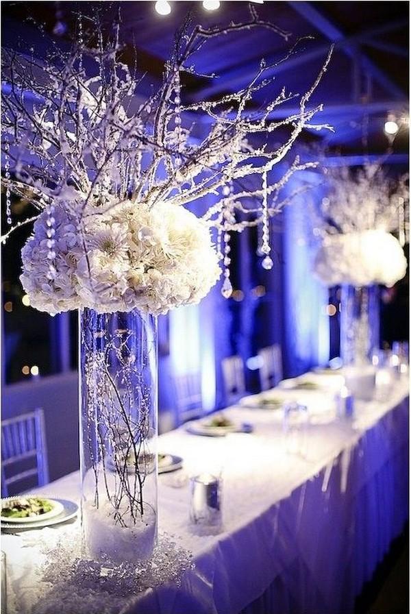 winter themed wedding centerpiece ideas for 2018