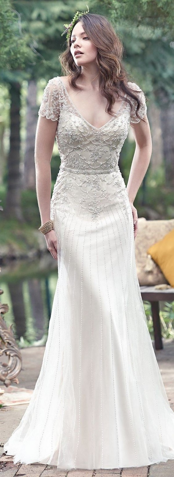 Maggie Sottero beaded vintage wedding dress