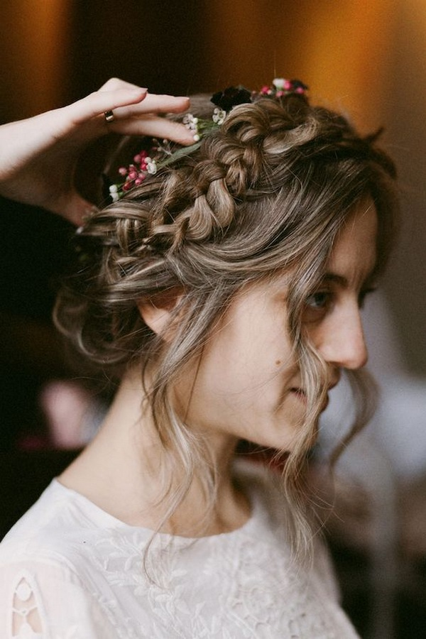 braided updo fall wedding hairstyle