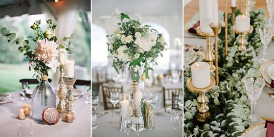 candlestick vintage wedding centerpieces