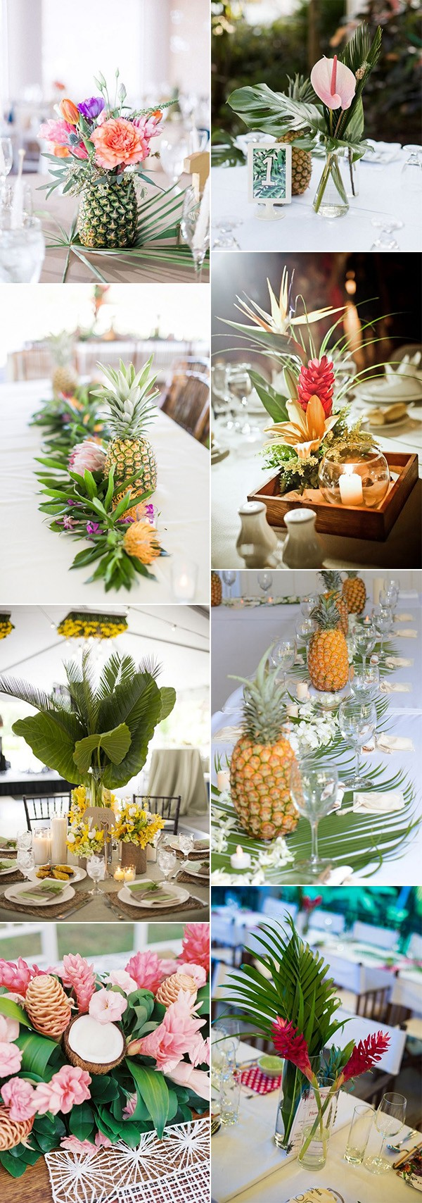 colorful tropical wedding centerpiece ideas