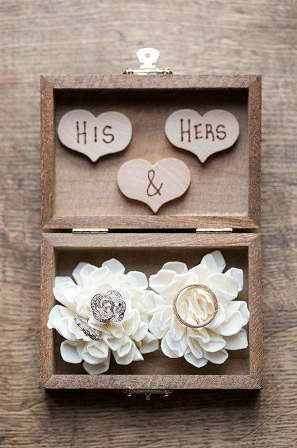 diy wooden rustic wedding ring box