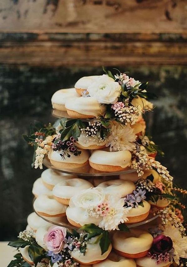 donuts fall wedding cake ideas