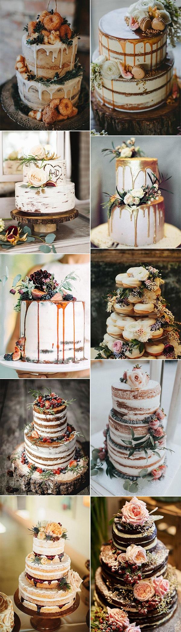 gorgeous fall wedding cake ideas