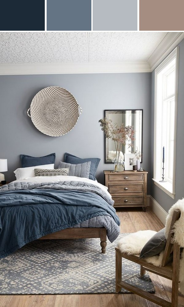 shades of blue bedroom color ideas