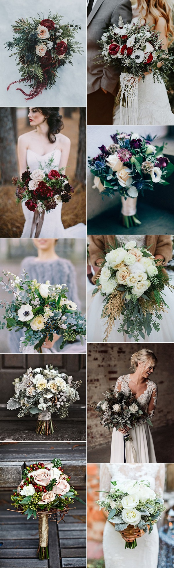 trending wedding bouquet ideas for fall and winter 2018
