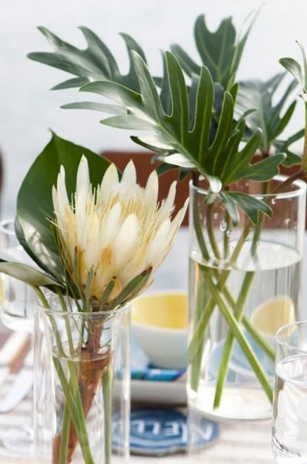 tropical wedding centerpiece ideas for beach wedding