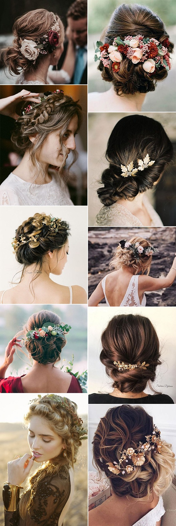 updos wedding hairstyles for fall weddings