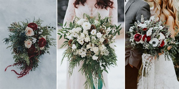 winter wedding flower arrangements 20 gorgeous winter wedding bouquets emmalovesweddings 1444