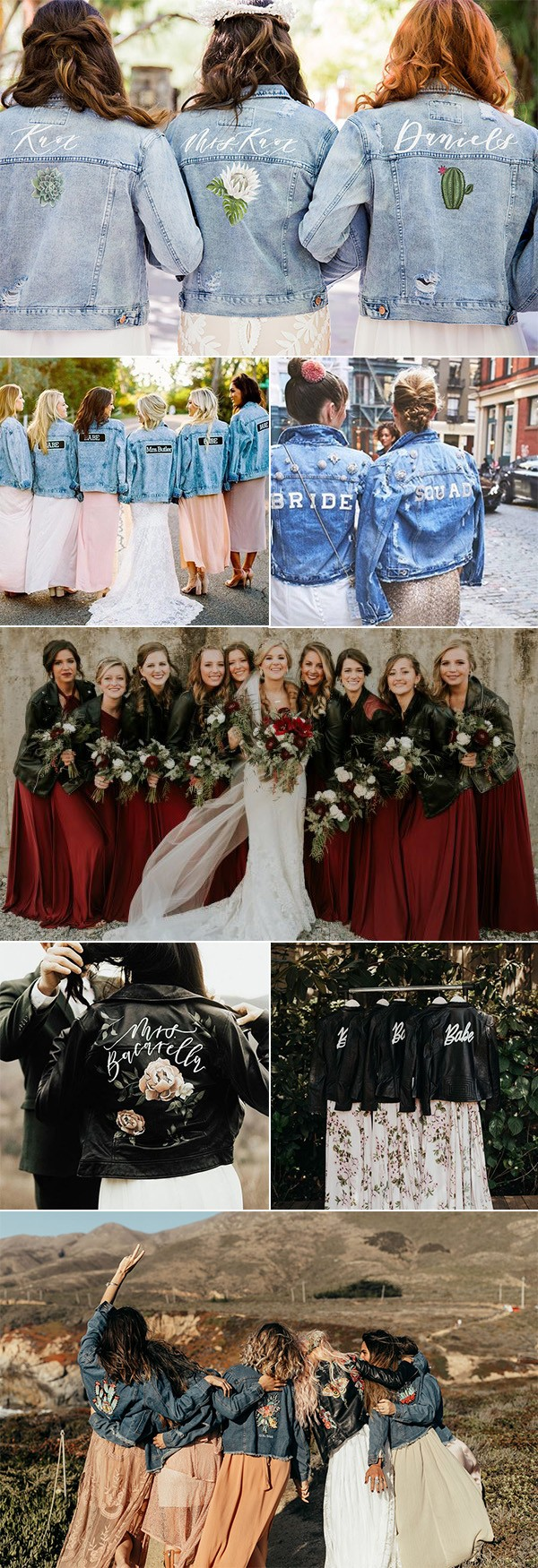 2019 trending bridal party look with jackets