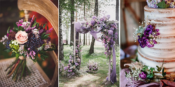 Ultra Violet purple wedding ideas