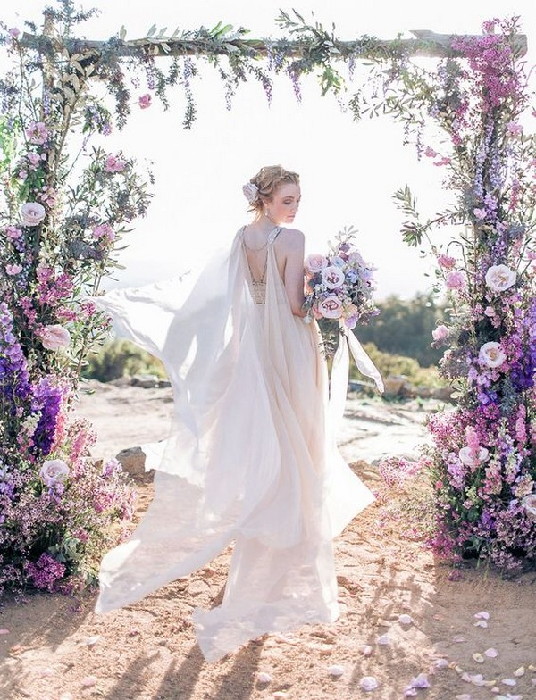 amazing shades of purple wedding arch ideas