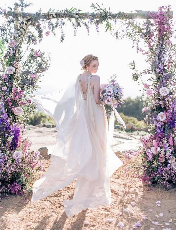 amazing shades of purple wedding arch ideas