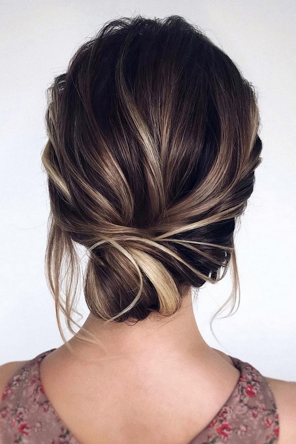elegant low bun updo wedding hairstyle from tonyastylist