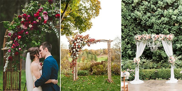 fall wedding arches and altars