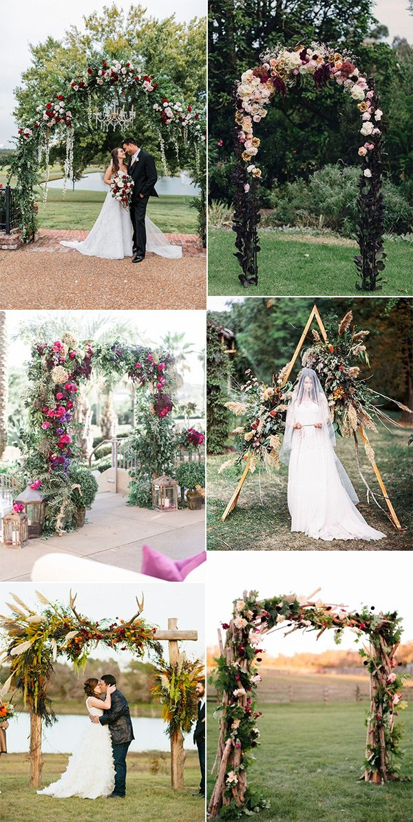 fall wedding arches for 2018 and 2019