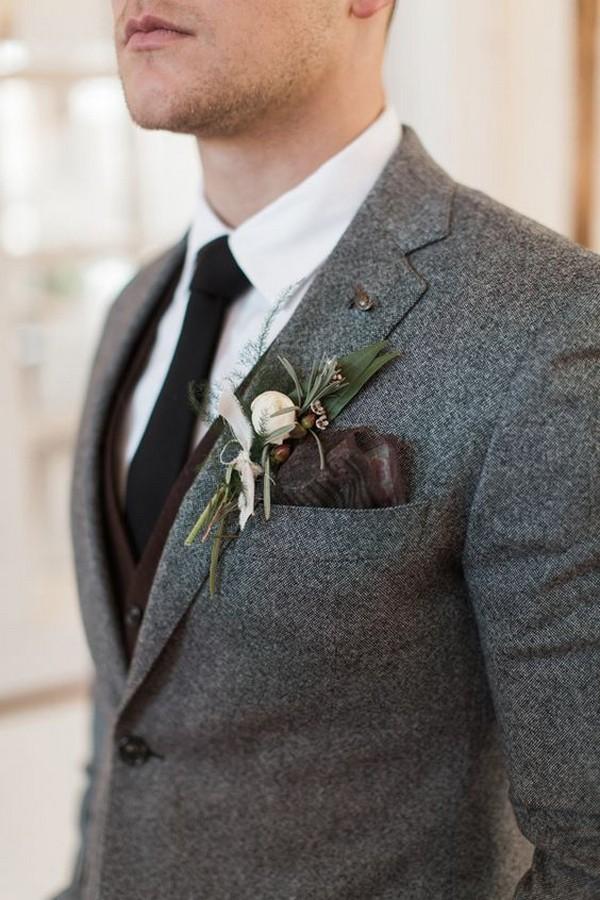 fall winter groom suit wedding ideas