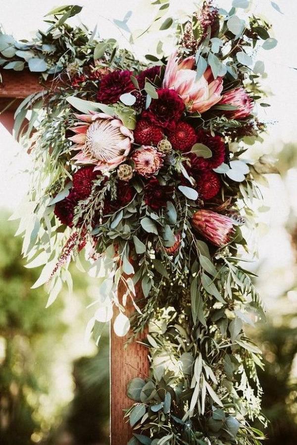 garden themed fall wedding arch decoration ideas