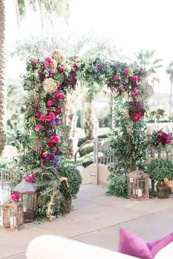 gorgeous floral wedding arch decoration ideas for fall