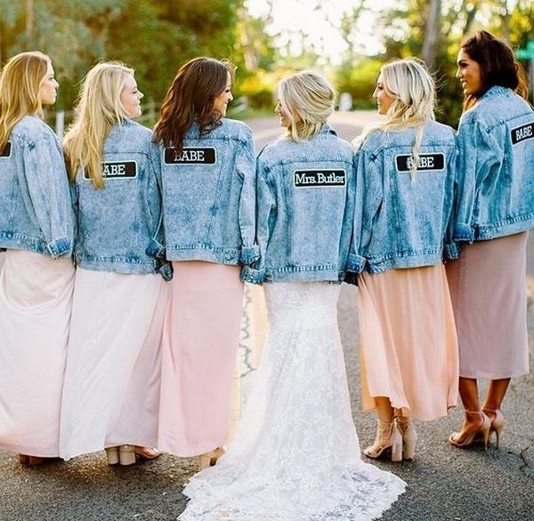 jean jackets for the bridal party 2019 wedding trend