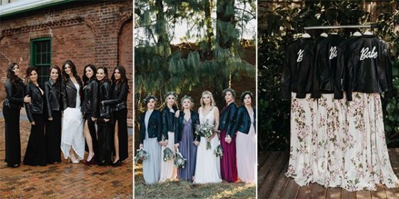 leather jackets for bridal party