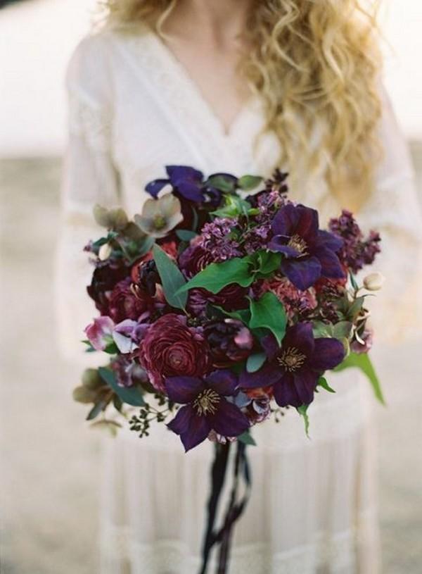 purple wedding bouquet ideas