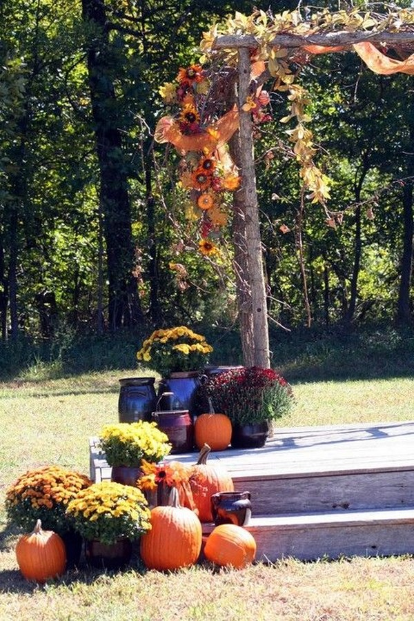 rustic fall wedding decoration ideas with