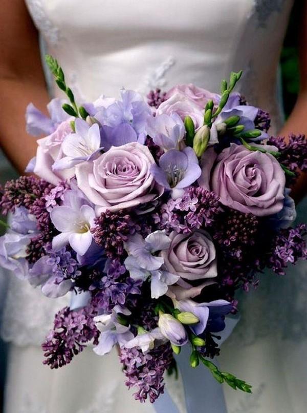shades of purple wedding bouquet