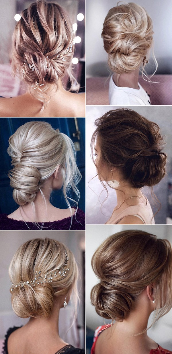 updo wedding hairstyles low bun for 2019 trends