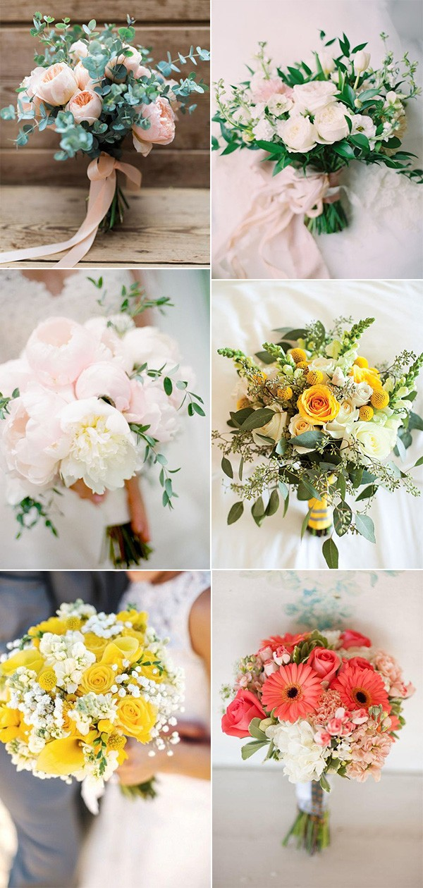 2019 trending wedding bouquet ideas for spring and summer