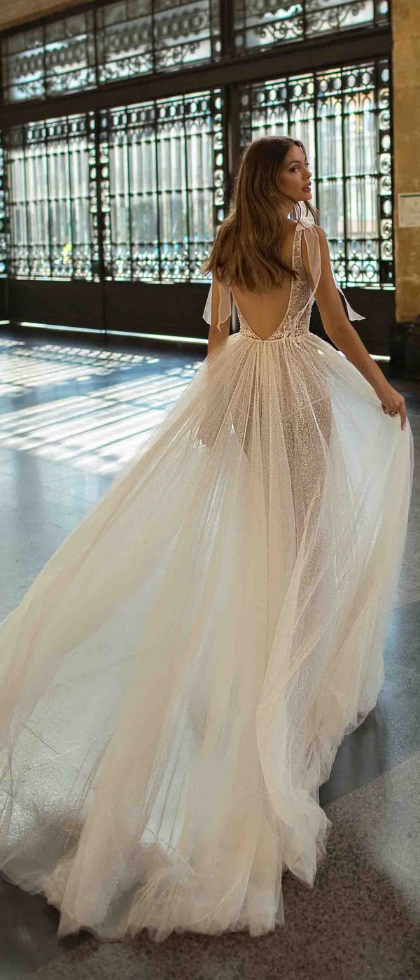 MUSE by Berta Daisy Wedding Dress 2019 Barcelona Collection back view