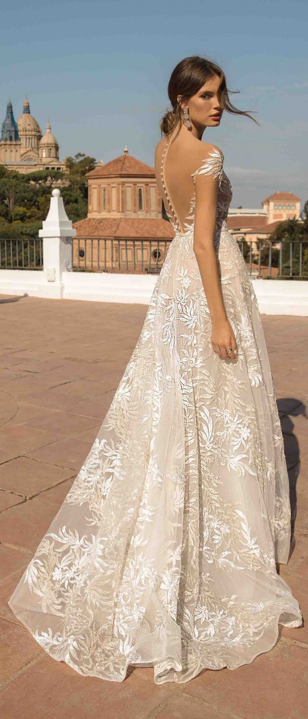 MUSE by Berta Daphne Wedding Dress 2019 Barcelona Collection back view