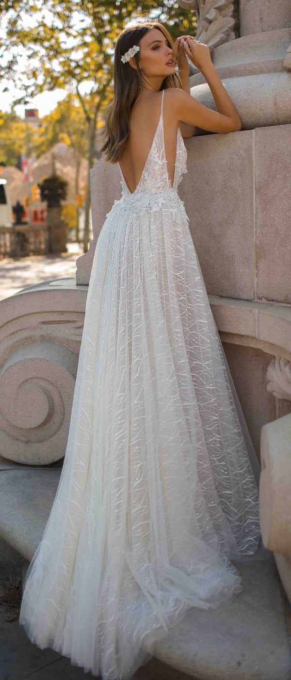 MUSE by Berta Daria Wedding Dress 2019 Barcelona Collection back view