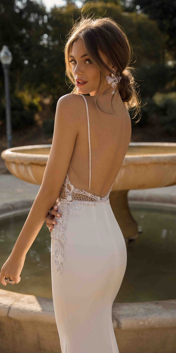 MUSE by Berta Debbie Wedding Dress 2019 Barcelona Collection back view