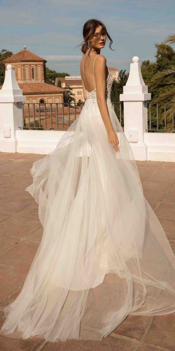 MUSE by Berta Debbie Wedding Dress 2019 Barcelona Collection with open back