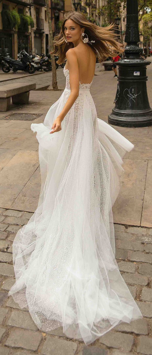 MUSE by Berta Delilah Wedding Dress 2019 Barcelona Collection back view