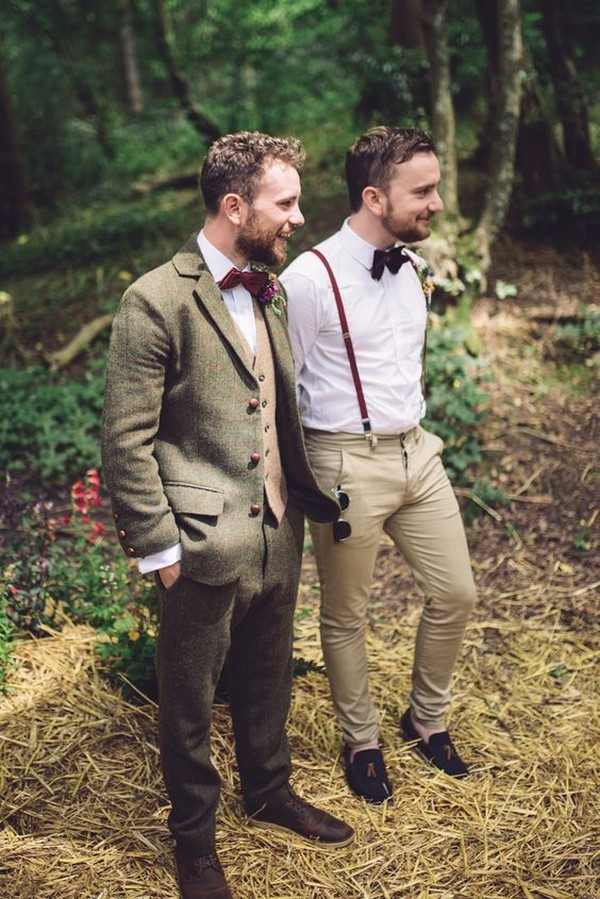Olive green groom style wedding ideas 2