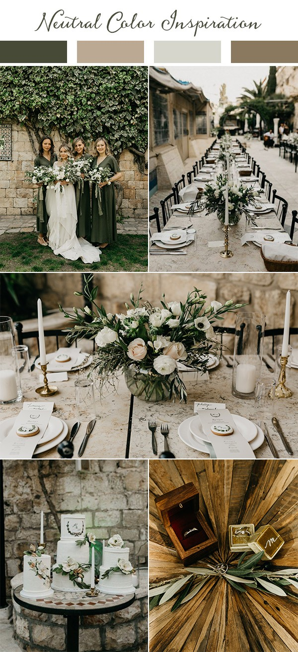 boho chic neutral wedding color ideas for 2019