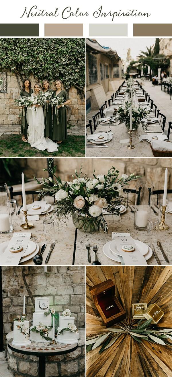 boho chic neutral wedding color ideas for 2019