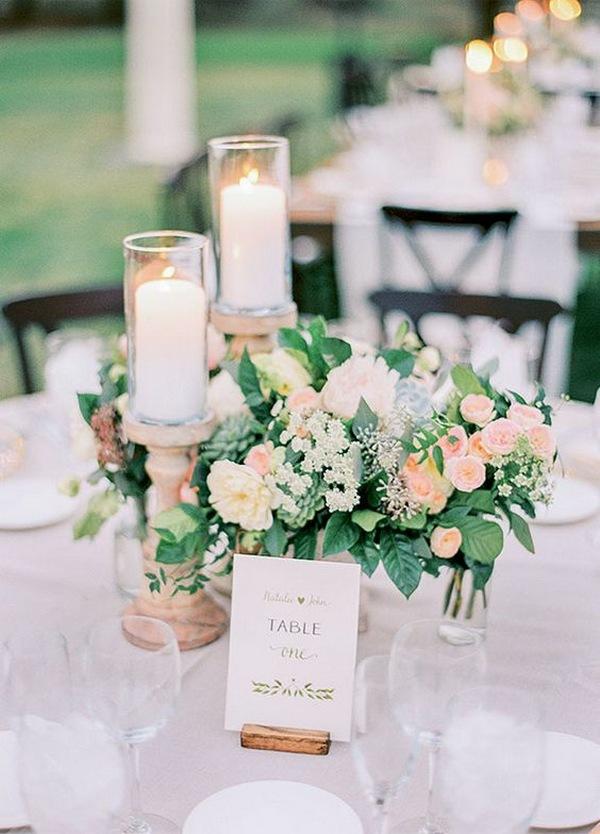 chic garden wedding centerpiece for spring