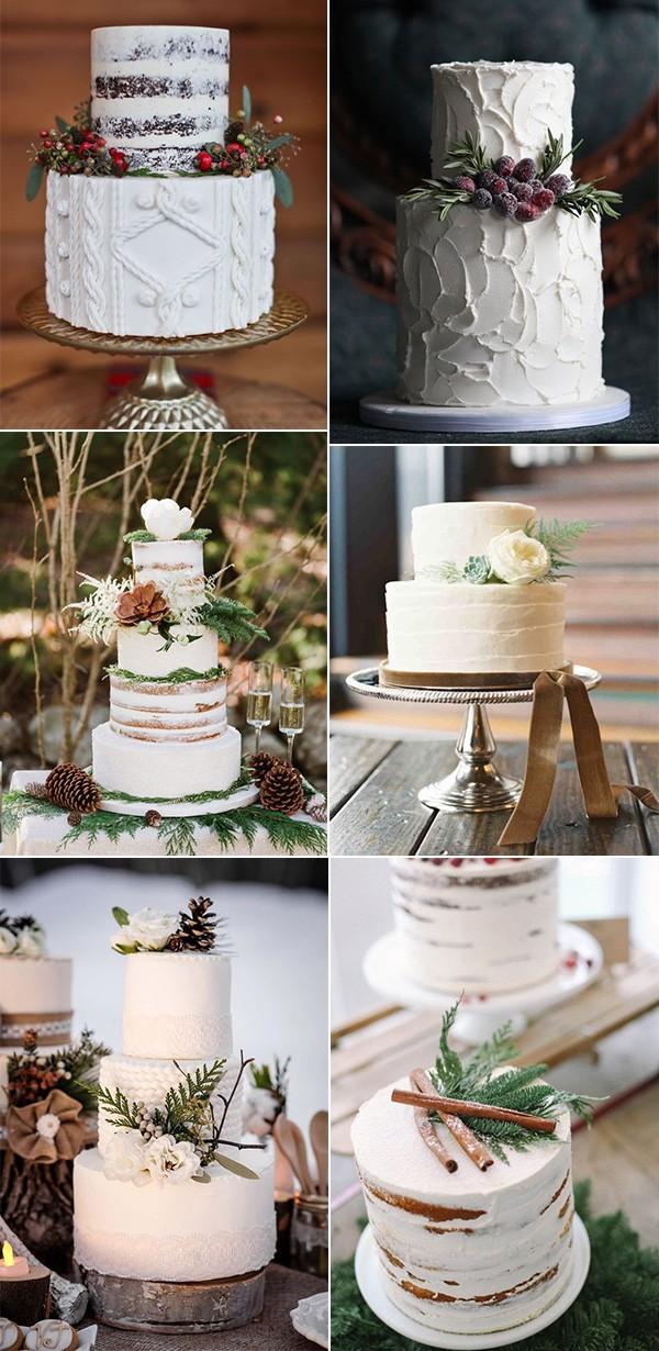 chic winter wedding cake ideas