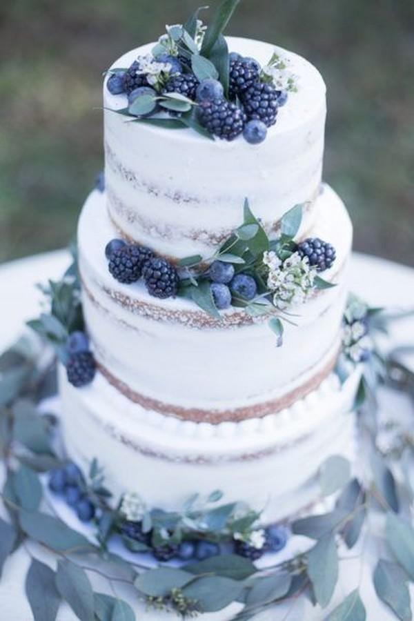 dusty blue winter wedding cake