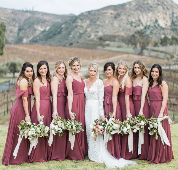 dusty rose bridesmaid dresses for 2019