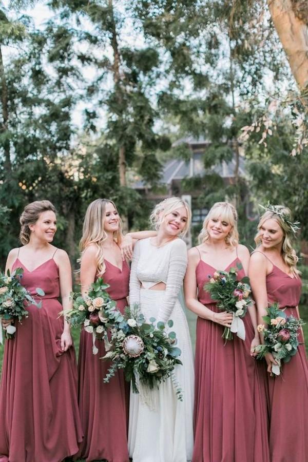 dusty rose bridesmaid dresses from Jenny Yoo 2